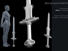 ACC-04-Sword 7inch MOTU v2.4 - Atlantean Sword in White Processed Versatile Plastic