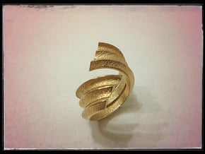 Coil ring in Polished Gold Steel