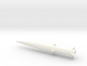 1/160 Scale MGM34 Pershing 1 Missile in White Processed Versatile Plastic