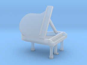 N Scale Grand Piano (Open) in Smooth Fine Detail Plastic