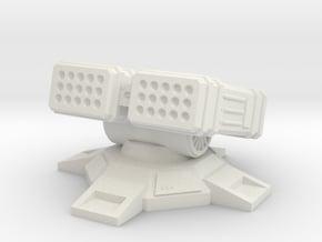 LRM Turret 6mm in White Natural Versatile Plastic