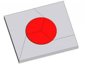 Hinomaru (Japan's flag) in White Natural Versatile Plastic
