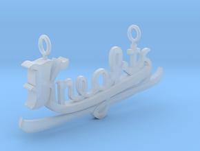 Knights Pendant in Smooth Fine Detail Plastic