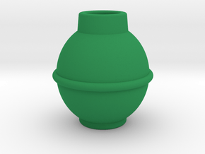 Grenade Body in Green Processed Versatile Plastic