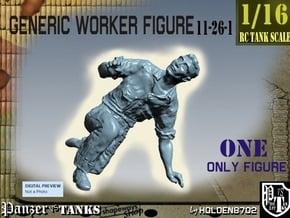 1-16 Generic Worker Figure 11-26-1 in White Natural Versatile Plastic