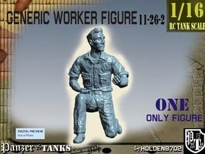 1-16 Generic Worker Figure 11-26-2 in White Natural Versatile Plastic