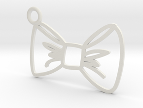 Bow Charm! in White Natural Versatile Plastic