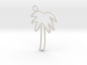 Palm Tree Charm! in White Natural Versatile Plastic