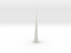 Burj Khalifa (1:1800) in White Natural Versatile Plastic