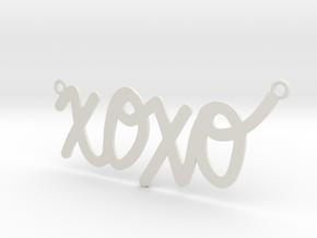 XOXO Necklace! in White Natural Versatile Plastic