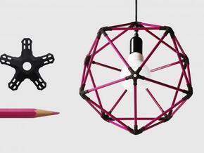 30 pencil icosahedron in White Natural Versatile Plastic