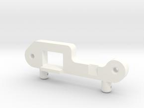 043007-01 Grasshopper Battery Door Retainer in White Processed Versatile Plastic