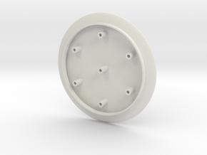 Bubble Head 2 in White Natural Versatile Plastic