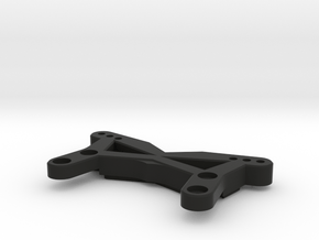 "BPERC ""Streamline"" Front Shock Tower for TLR 22B in Black Natural Versatile Plastic"