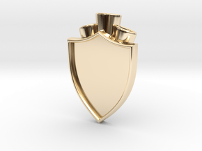 Plume Holder Camelot in 14k Gold Plated Brass