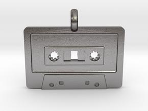 Cassette Tape Pendant in Polished Nickel Steel