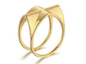 Gothic Vault Ring in 18k Gold Plated Brass