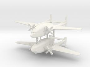 1/350 Fairchild C-119 Boxcar (x2) in White Natural Versatile Plastic