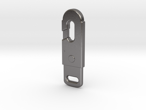 Static Line Hook in Polished Nickel Steel