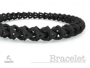 Bracelet - Crossover in White Natural Versatile Plastic