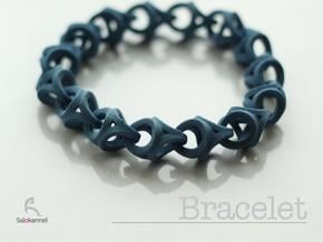 Crossover Thick - Bracelet size S in Blue Processed Versatile Plastic