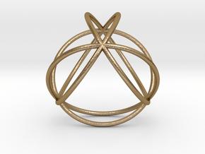 "TetraSphere 1.8"" in Polished Gold Steel"
