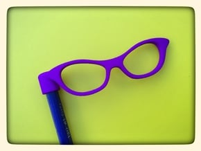 Glasses Penciltop: The Librarian in Purple Processed Versatile Plastic