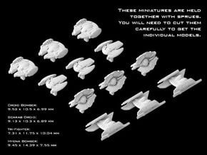 (Armada) Separatist Fighter Set 1 in Smooth Fine Detail Plastic