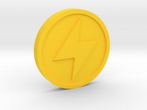 Ether Medallion in Yellow Processed Versatile Plastic