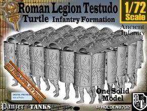 1-72 Roman Testudo in White Natural Versatile Plastic