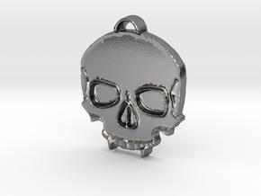 Vampire Skull in Polished Silver: Medium