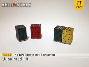 4x DIN-Palette mit Bierkästen (TT 1:120) - in Smooth Fine Detail Plastic