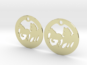 FREEDOM (precious metal earrings) in 18k Gold Plated Brass
