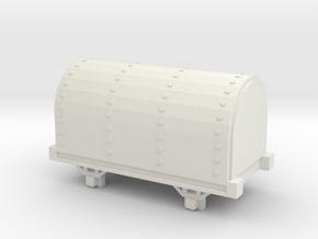 009 Ffestiniog / Skarloey Railway Gunpower Van in White Natural Versatile Plastic