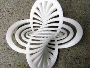Hopf Fibration 1 in White Natural Versatile Plastic