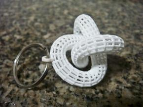 Rail with a ball inside - Keychain in White Natural Versatile Plastic
