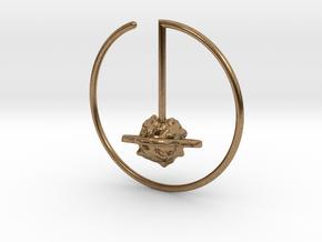 Saturn Suspension Hoop  in Natural Brass