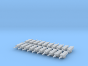 10 RH & 10 LH N Scale PRR Switch Machines in Smoothest Fine Detail Plastic
