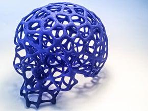 "Wired Skull "" Voronoï "" in Blue Processed Versatile Plastic"