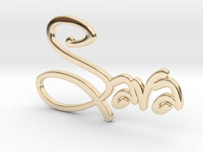 Names: Sara (customizable) in 14k Gold Plated Brass