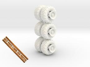 1-64 Tire Galaxy 725-65-26 + Rim SET in White Processed Versatile Plastic