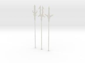 """BotW"" Elemental Spears Set in White Natural Versatile Plastic: 1:12"