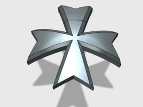 60x Maltese Cross : Shoulder Insignia pack in Smoothest Fine Detail Plastic
