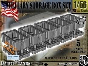 1-56 Military Storage Box Set in White Natural Versatile Plastic