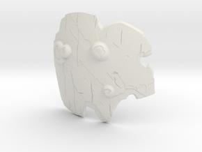"""BotW"" Boko Shield in White Natural Versatile Plastic: 1:12"