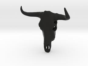 CowSkull in Black Natural Versatile Plastic