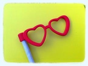Glasses Penciltopper: Love edition in Red Processed Versatile Plastic