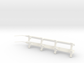 1.6 AGUSTA 109 Side Steps in White Processed Versatile Plastic