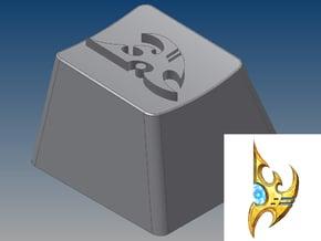 StarCraft - Protoss Keycap (R4, 1x1) in White Natural Versatile Plastic