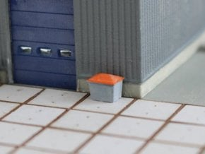 N Scale Grit Box 4pc in Smooth Fine Detail Plastic